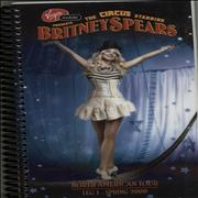 Britney Spears The Circus - Crew Itinerary USA Itinerary