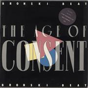 Bronski Beat The Age Of Consent - Stickered Sleeve UK vinyl LP