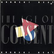 Bronski Beat The Age Of Consent USA vinyl LP
