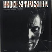 "Bruce Springsteen Brilliant Disguise + Poster - EX UK 12"" vinyl"
