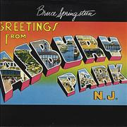 Bruce Springsteen Greetings From Asbury Park N.J. - Red UK vinyl LP