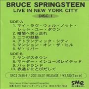 Click here for more info about 'Bruce Springsteen - Live In New York City'