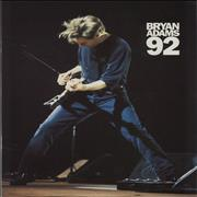 Bryan Adams Bryan Adams 92 + Ticket stub UK tour programme