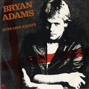 "Bryan Adams Cuts Like A Knife UK 7"" vinyl"