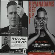 Bryan Adams Get Up! Tour - Live In Tokyo Japan handbill Promo