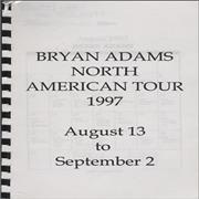 Click here for more info about 'Bryan Adams - North American Tour - Tour Itinerary'