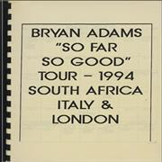 Click here for more info about 'Bryan Adams - So Far So Good - Tour Itinerary'