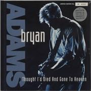 "Bryan Adams Thought I'd Died - Silver Vinyl - Sealed UK 12"" vinyl"