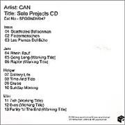 Click here for more info about 'Can - Solo Projects CD'
