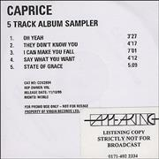 Click here for more info about 'Caprice - 5-track Album Sampler'