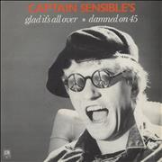 Click here for more info about 'Captain Sensible - Glad It's All Over - Wide Centre + Sleeve'