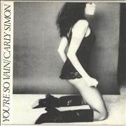 Click here for more info about 'Carly Simon - You're So Vain - p/s'