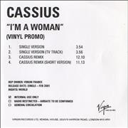 Click here for more info about 'Cassius - I'm A Woman'