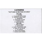 Catherine Hot Saki & Bedtime Stories UK cassette album Promo