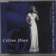 Celine Dion Live In Het Olympia Theater : De Hoogtepunten Netherlands CD single Promo