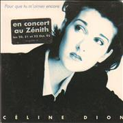 Celine Dion Pour Que Tu M'almes Encore France CD single