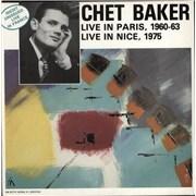 Chet Baker Live In Paris, 1960-63 - Live In Nice, 1975 France vinyl LP