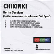 Click here for more info about 'Chikinki - Berlin Sessions'