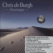 Click here for more info about 'Chris De Burgh - Footsteps 2 Track Sampler'