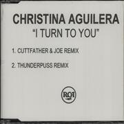 Christina Aguilera I Turn To You UK CD-R acetate Promo