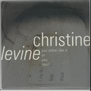 """Christine Levine You Either Like It Or You Don't UK 7"""" vinyl"""