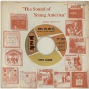 "Chuck Jackson Baby, I'll Get It USA 7"" vinyl"