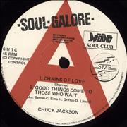 "Chuck Jackson Chains Of Love UK 7"" vinyl Promo"