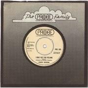 "Chuck Jackson I Only Get The Feeling UK 7"" vinyl"