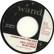 "Chuck Jackson Something You Got USA 7"" vinyl"