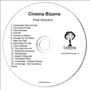 Click here for more info about 'Cinema Bizarre - Final Attraction / Hot Topic EP'