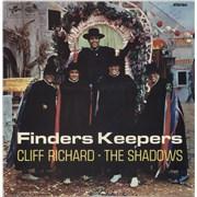 Cliff Richard Finders Keepers UK vinyl LP