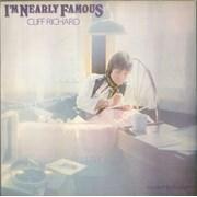 Cliff Richard I'm Nearly Famous UK vinyl LP