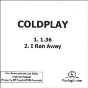 Click here for more info about 'Coldplay - 1.36 (One.Thirty-Six)'