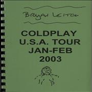 Click here for more info about 'Coldplay - A Quantity of 2003 Tour Itineraries'
