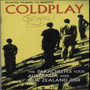 Click here for more info about 'Coldplay - A Quantity of 5 x 2001 Tour Itineraries'