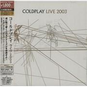 Coldplay Live 2003 Japan CD album Promo