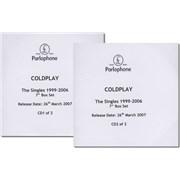 Coldplay The Singles 1999-2006 UK CD-R acetate Promo