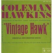 Coleman Hawkins Vintage Hawk UK vinyl LP