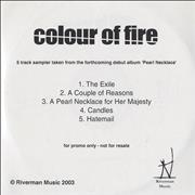 Click here for more info about 'Colour Of Fire - Pearl Necklace - Album Sampler'