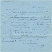 Click here for more info about 'Connie Francis - Personal Letter'