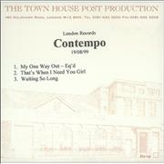 Click here for more info about 'Contempo - My One Way Out'