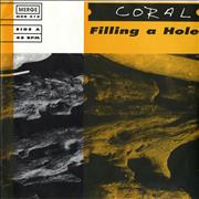 """Coral Filling A Hole USA 7"""" vinyl"""