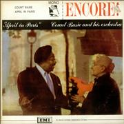 Count Basie April In Paris UK vinyl LP