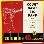 "Count Basie Count Basie Big Band No.2 EP UK 7"" vinyl"