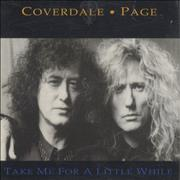 Coverdale Page Take Me For A Little While UK CD single Promo