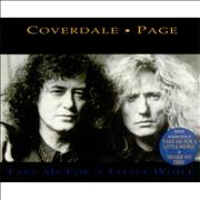 Coverdale Page Take Me For A Little While UK CD single