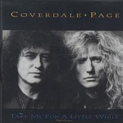 Coverdale Page Take Me For A Little While USA CD single Promo