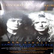 Coverdale Page Take Me For A Little While UK poster Promo