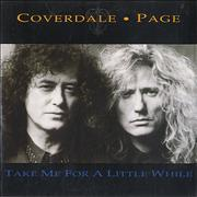 Coverdale Page Take Me For A Little While Netherlands CD single