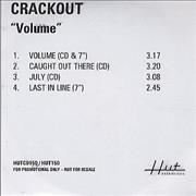 Click here for more info about 'Crackout - Volume'